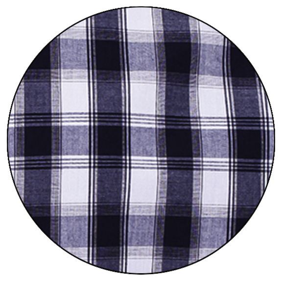 Navy/White Check Shirt