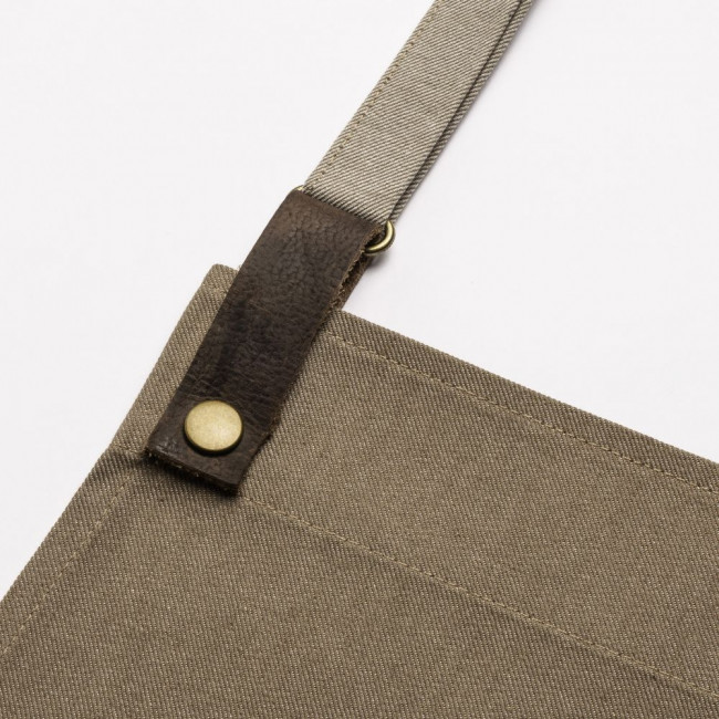 Biscuit Adjustable Bib Apron w/ Leather Detailing