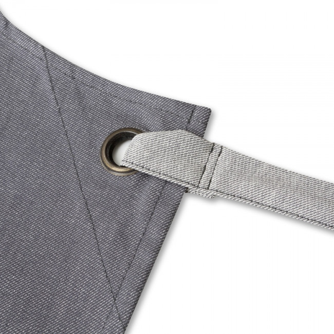 Contrast Grey Denim Bib Apron