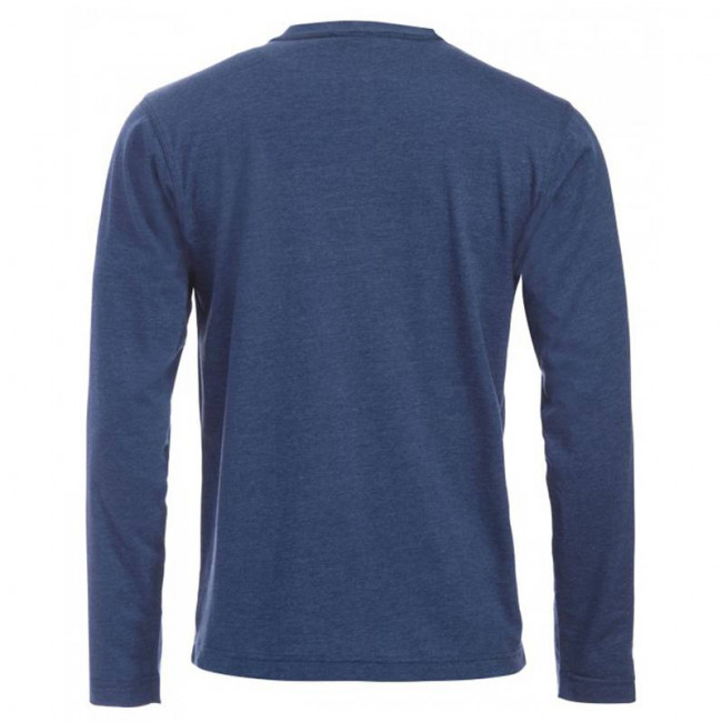 Mens Blue Melange T Shirt