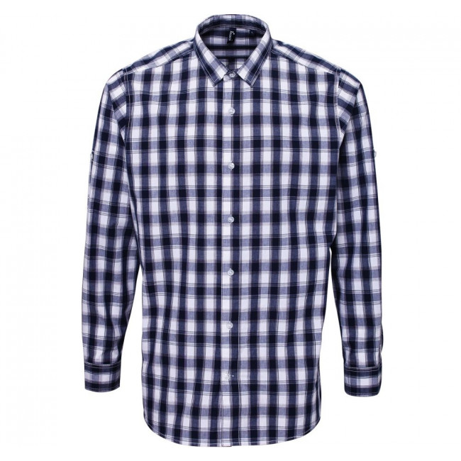 Navy/White Check Shirt