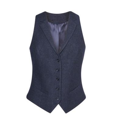 Women's Navy Herringbone Waistcoat