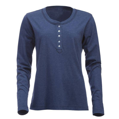 Womens Blue Melange T Shirt