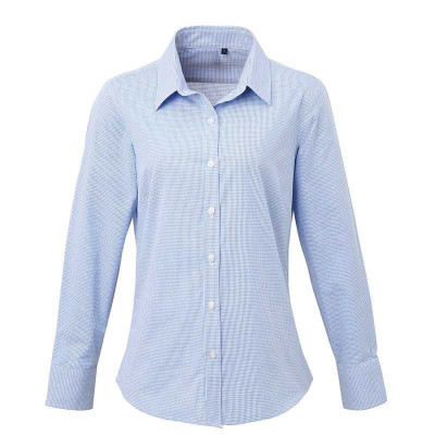 Light Blue/White Gingham Blouse