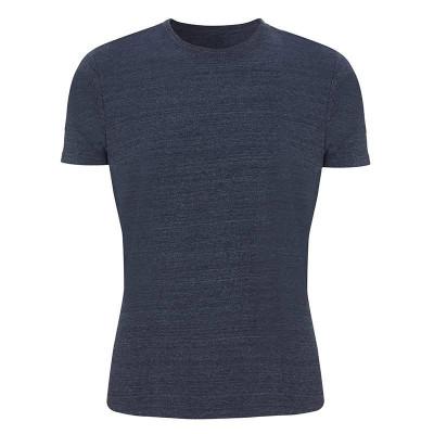 Mens Melange Navy T-Shirt