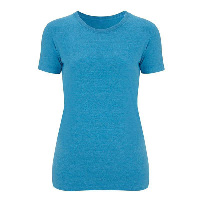 Womens Melange Mid Blue T-Shirt
