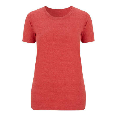 Womens Melange Red T-Shirt