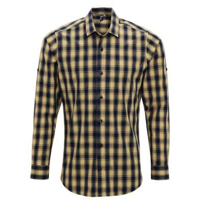 Camel/Navy Check Shirt