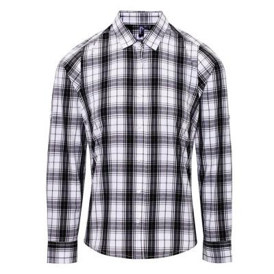 Black/White Check Blouse