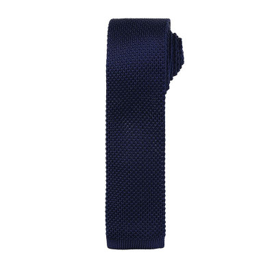 Navy Slim Knitted Tie