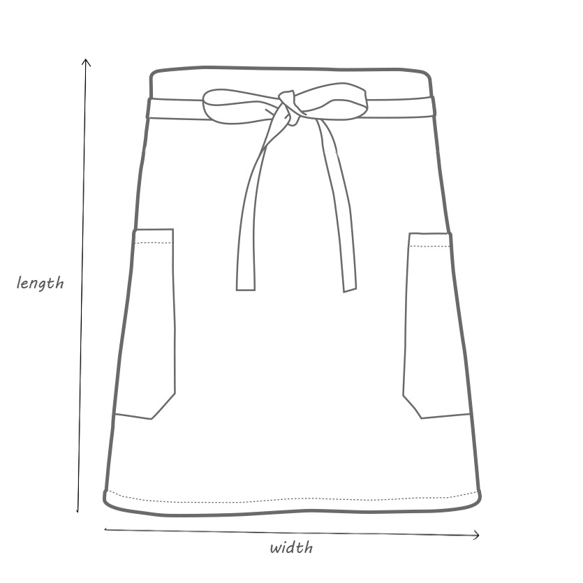 Waist Apron Dimmensions